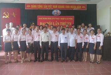 Đại hội Chi bộ trường Trung cấp Kỹ thuật – Nghiệp vụ Hải Phòng lần thứ XV, nhiệm kỳ 2015-2020